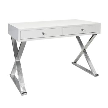 Jared White Desk | Silver