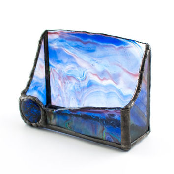 Shop Stained Glass Business Card Holder On Wanelo