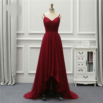 Formal Luxury Long Evening Dress Front Short Long Back Party