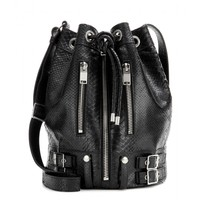 saint laurent - rider medium bucket leather shoulder bag