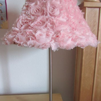 Rose Lamp Shade, Shabby Chic Lamp Shade, Nursery Lamp Shade, Baby Girl Nursery Lamp Shade, Shabby Chic Lamp Shade