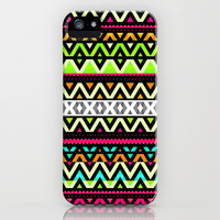 Neon Mix iPhone Case by Ornaart | Society6