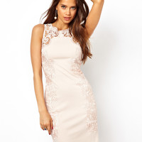 Lipsy Bodycon Dress with Lace Panel