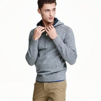 H&M Hooded Cotton Knit Sweater $39.99