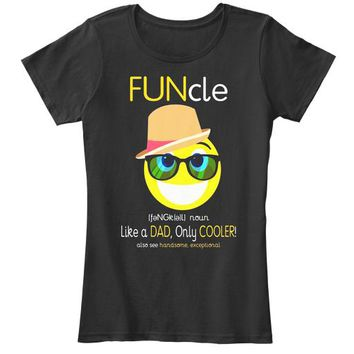 Mens Funcle T Shirt Like A Dad Only Cool