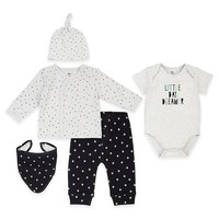"Petit Lem™ 5-Piece ""Little Day Dreamer"" Top, Pant, Bodysuit, Hat, and Bib Set"