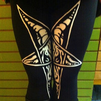 Baphomet Devil Horned God Pentagram Occult Leggings