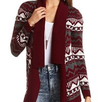 GEO CHEVRON OPEN CARDIGAN