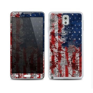 The Grungy American Flag Skin for the Samsung Galaxy Note 3