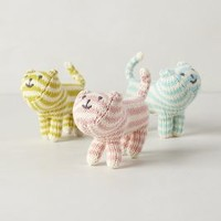 Handknit Kitten Rattles by Anthropologie Multi One Size Gifts
