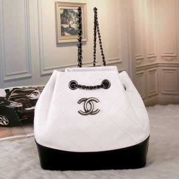 Tagre™ CHANEL Women Shopping Bag Leather Shoulder Bag Daypack Backpack