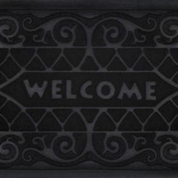 Park Avenue Welcome Mat 18x30 Wrought Iron - Black