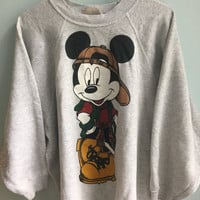 vintage 90s mickey mouse raglan crewneck sweater / large