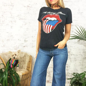 FALL SALE Vintage Rare 1981 STONES Authentic North American Tour Tee || The Rolling Stones || Size Ladies Small || Mens Xs