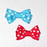 2 Polkadot Dog Hair Bow Sale U choose colors