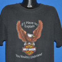 90s Harley Davidson You Wouldn't Understand t-shirt Extra Large