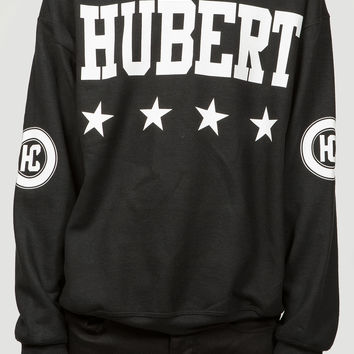 Hubert & Calvin Black Signature Sweatshirt