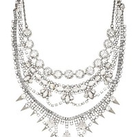 XEVANA Dialouvtra Necklace in Metallic Silver