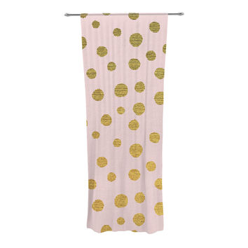 "Nika Martinez ""Golden Dots & Pink"" Blush Decorative Sheer Curtain"