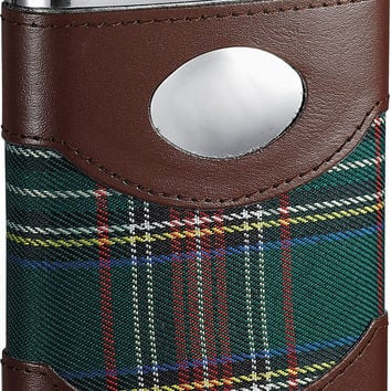 Visol Edinburgh Plaid Cloth Wrapped Hip Flask - 6 oz