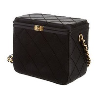 Satin Quilted Box Bag