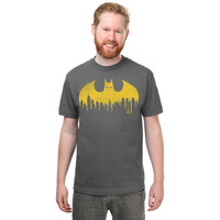Batman Skyline Logo T-Shirt - Charcoal,