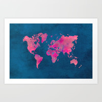 world map art 10 Art Print by Lionmixart