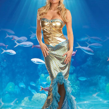 Mermaid Cosplay Anime Cosplay Apparel Holloween Costume [9211524164]