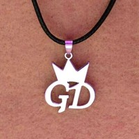 New kpop BIGBANG GD GDragon Leather rope necklace GD Crown Necklace