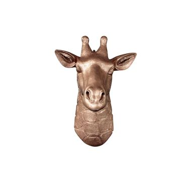 The Mini Zimbabwe | Mini Giraffe Head | Faux Taxidermy | Bronze Resin