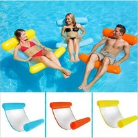 New water hammock water lounge chair floating bed pool sofa Inflatable foldable PVC swimming ring can bearing 200kg