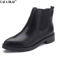 Leather Pointed Toe Chelsea Boots