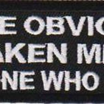 Mistaken Me For Someone Who Cares Funny Motorcycle MC Biker Vest Patch PAT-1218