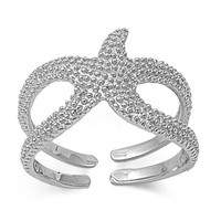 925 Sterling Silver Starfish in the Sky Ring