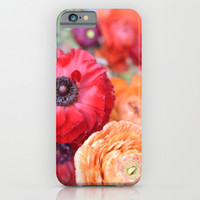 Rosey Ranunculus iPhone & iPod Case by Lisa Argyropoulos