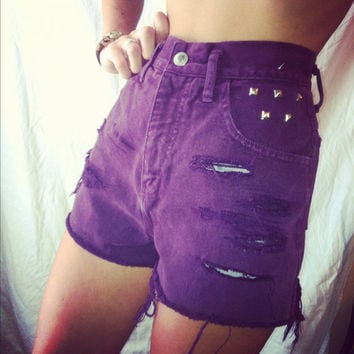 The purp shorts