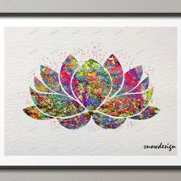 Lotus Flower Yoga Symbol watercolor wall art canvas painting Buddha poster print Pictures for Home Decor wall hanging sticker