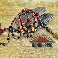 Boho Hippie Arrowhead necklace. Native american jewelry