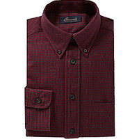 Roundtree & Yorke Casuals Gingham Sportshirt - Rhubarb