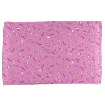 PEAPGQ9 Pastel Strawberry Sprinkles All Over Hand Towel