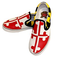 Maryland Flag / Slip-On Shoes