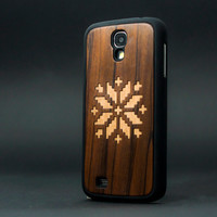 Folk - Apple iPhone 5 iPhone 4  Sony Xperia Samsung Galaxy Real Wood Black Transparent Case hard case