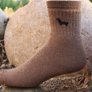 Womens Tall Medium Weight Hunter Outdoor Alpaca Socks