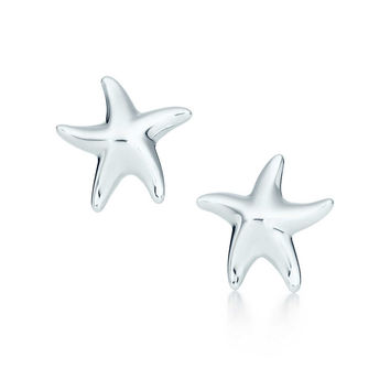 Tiffany & Co. - Elsa Peretti® Starfish earrings in sterling silver.