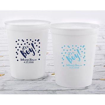 Personalized 16 oz. Stadium Cup - It's a Boy!