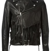 Saint Laurent Fringed Biker Jacket - Tiziana Fausti - Farfetch.com