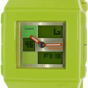 G-Shock Square Vivid Combination Wrist Watch in Green