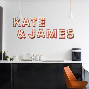 Wall Stickers 'Retro Cinema Marquee Letters'