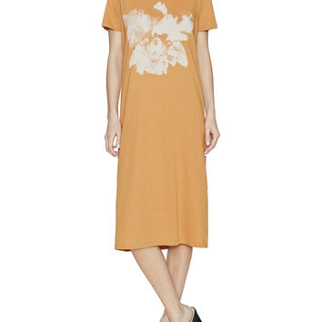 Orchid Cotton T-Shirt Dress with Button Back