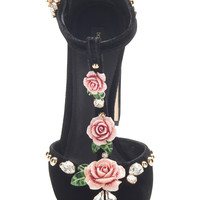 Embroidered Velvet Pumps | Moda Operandi